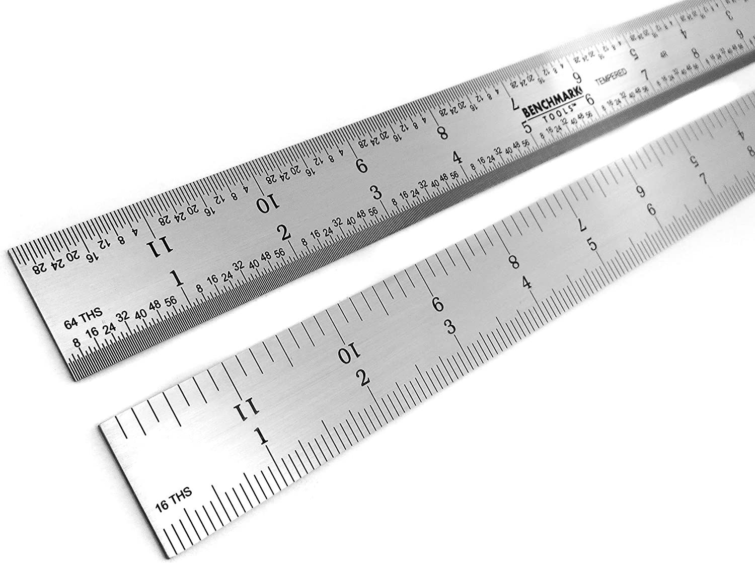 Benchmark Tools 466729 Rigid 4R 12 Inch Rigid 4R Machinist Rule with 1//8 1 1//16 1//32 and 1//64 Markings Tempered Stainless Steel with Brushed Finish Conforms to EEC-1 Accuracy Standards