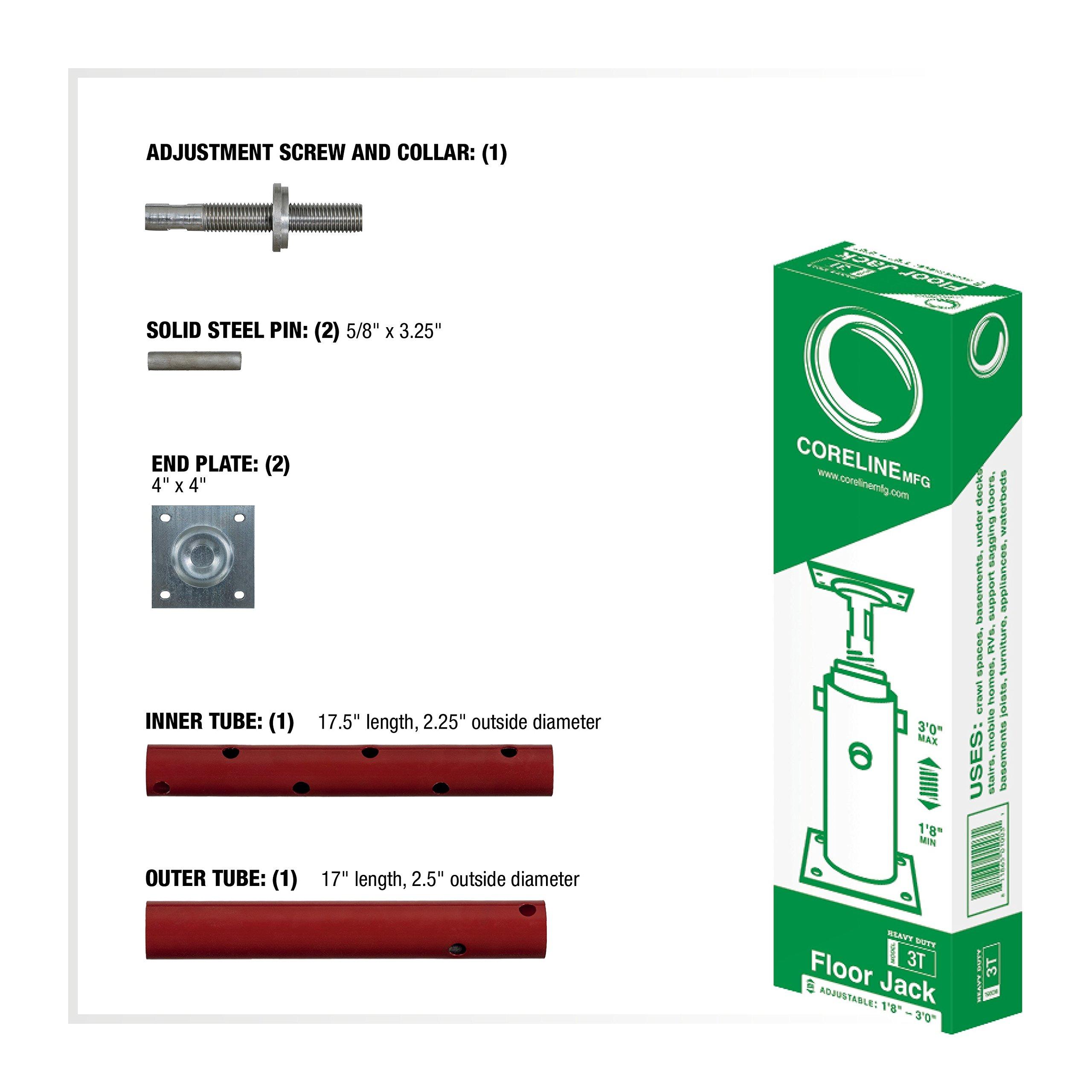 Grow Co. Adjustable Floor Jack - 17,500-Lb. Capacity, Model# 3T by CORELINE (Image #2)