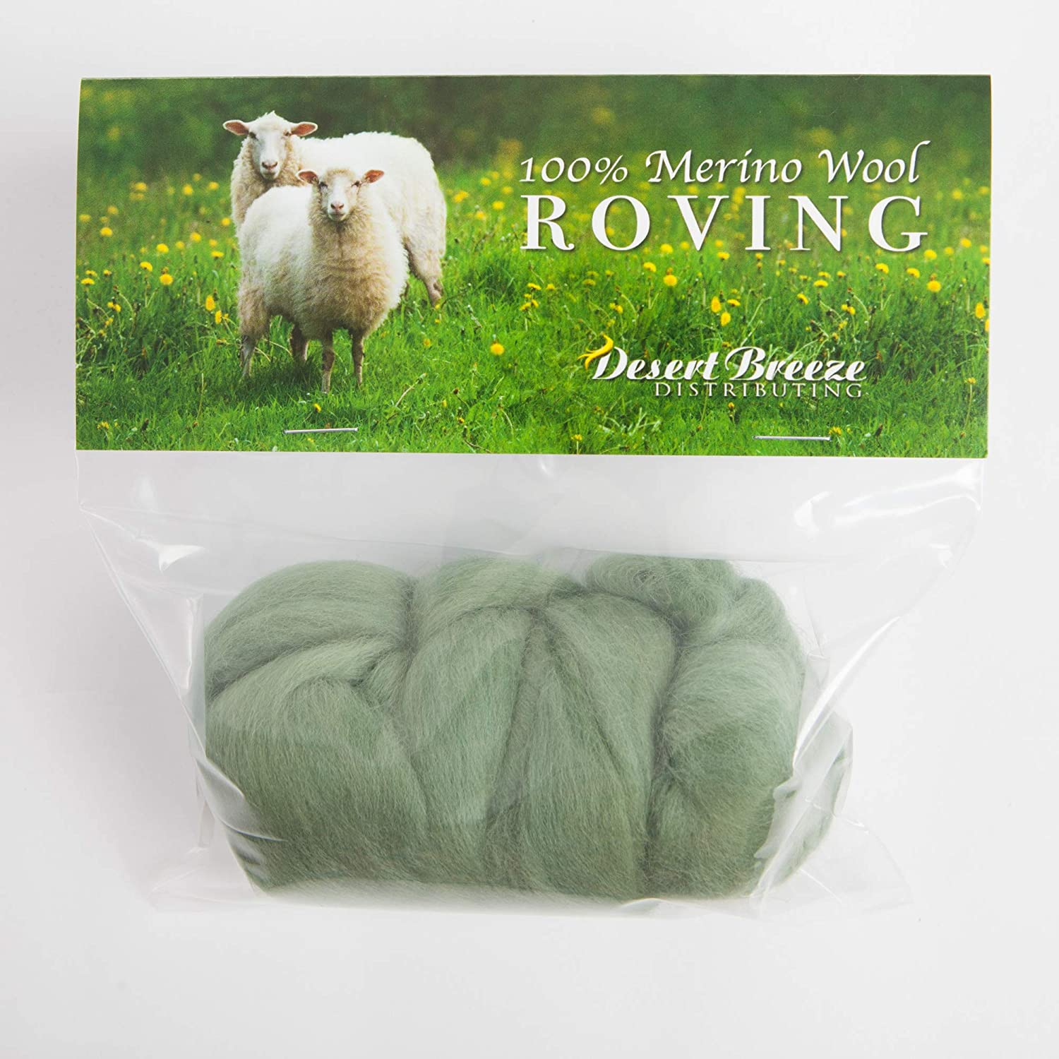 100/% Pure Wool Color Blue Made in The UK Perfect for Felting Projects Premium Combed Top 21 Micron Merino Wool Roving