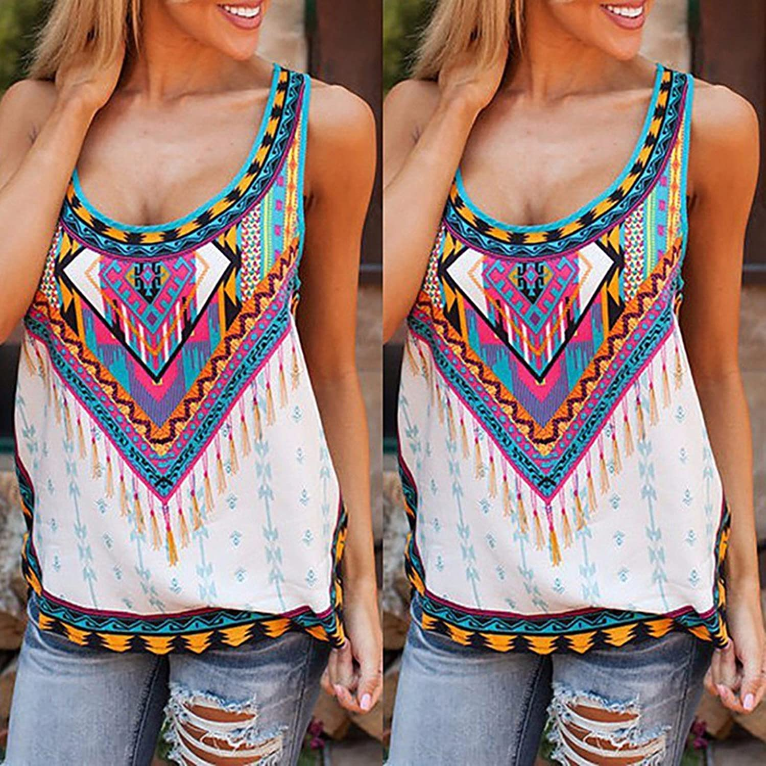 Dewapparel Women New Summer Vest Top Sleeveless Blouse Casual Tank Tops T- Shirt: Amazon.co.uk: Clothing