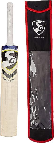 SG Sierra Plus Kashmir Willow Cricket Bat: Amazon.es: Deportes y aire libre