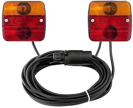 Rückleuchten-Set verkabelt mit Magnetfuß für PKW-Anhänger, 7m Kabel ...