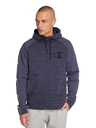 81a7e2909827 Champion Athletics Herren Zip Hoodies Ev 0 Active Indigo L  Amazon ...