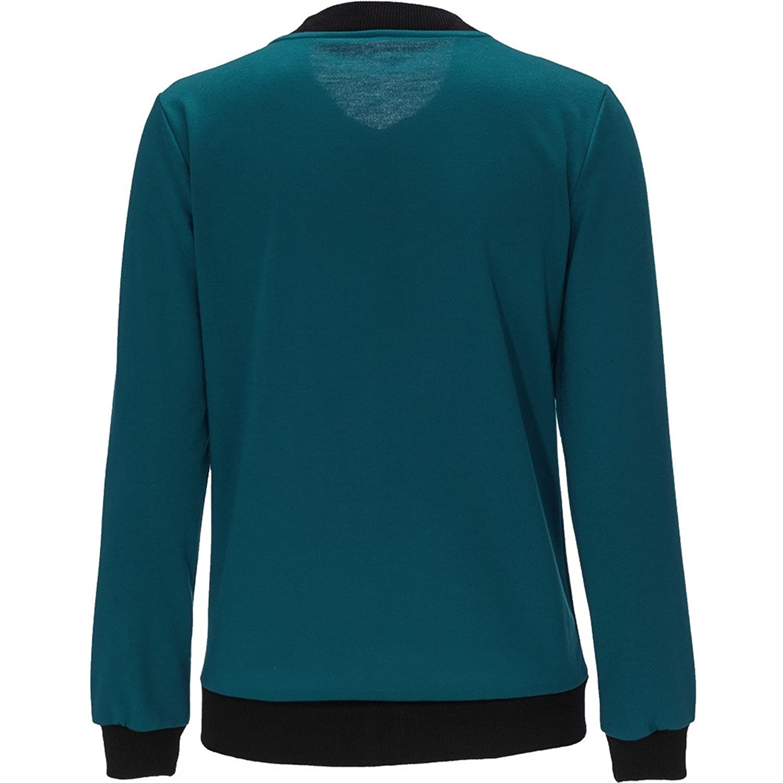 Londony New Seasons Coat Womens Simple Design Crew Neck Long Sleeve Full Zip Jacket Casual Spring Coat Fashion Cardigan