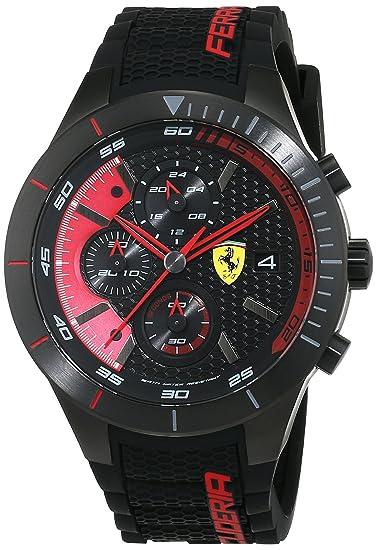 Ferrari 0830260 RedRev Evo - Reloj analógico de pulsera para hombre (cuarzo, correa de