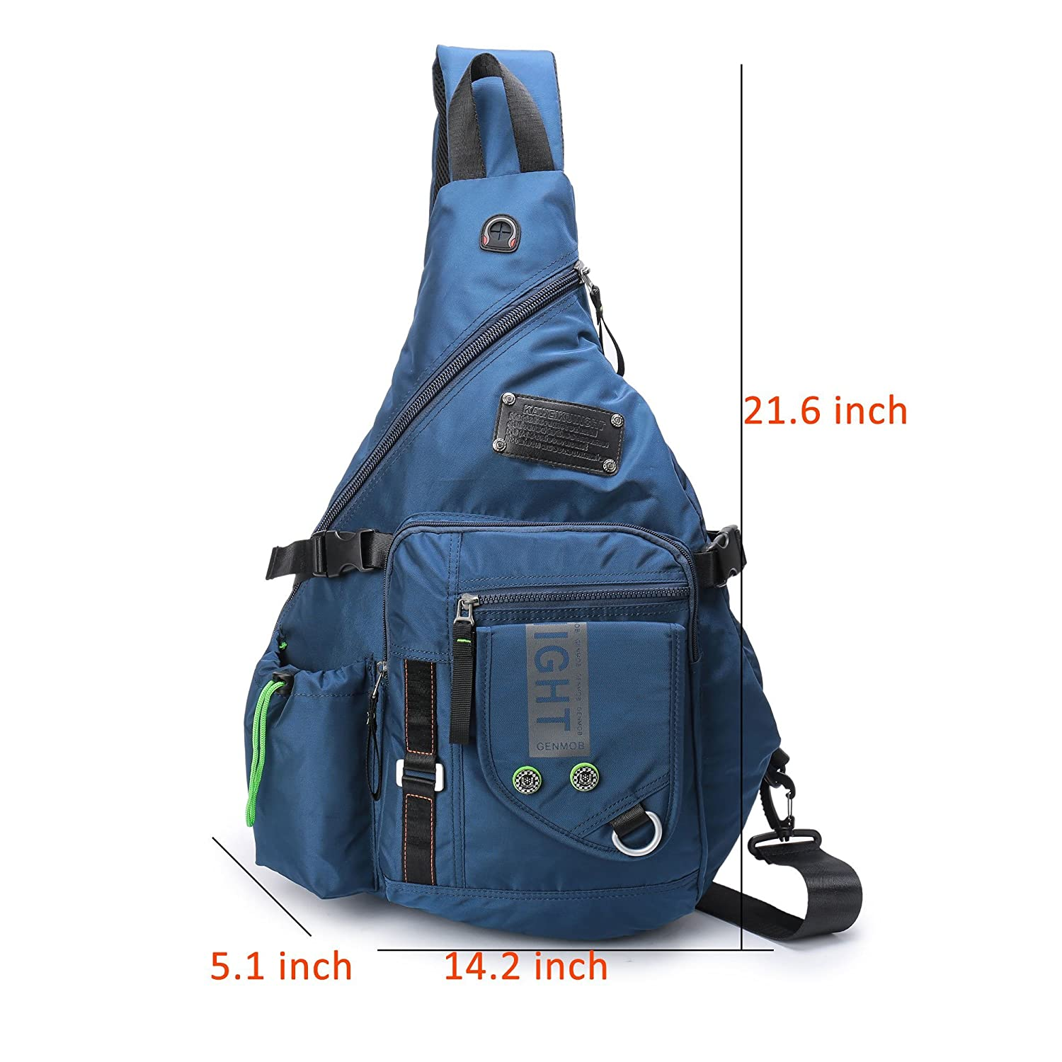 5c34d164d838 Amazon.com  DDDH Large Sling Bags Crossbody Backpack 14.1-Inch Chest  Daypack Travel Bag Book Bag for Men Women(Blue)  Computers   Accessories