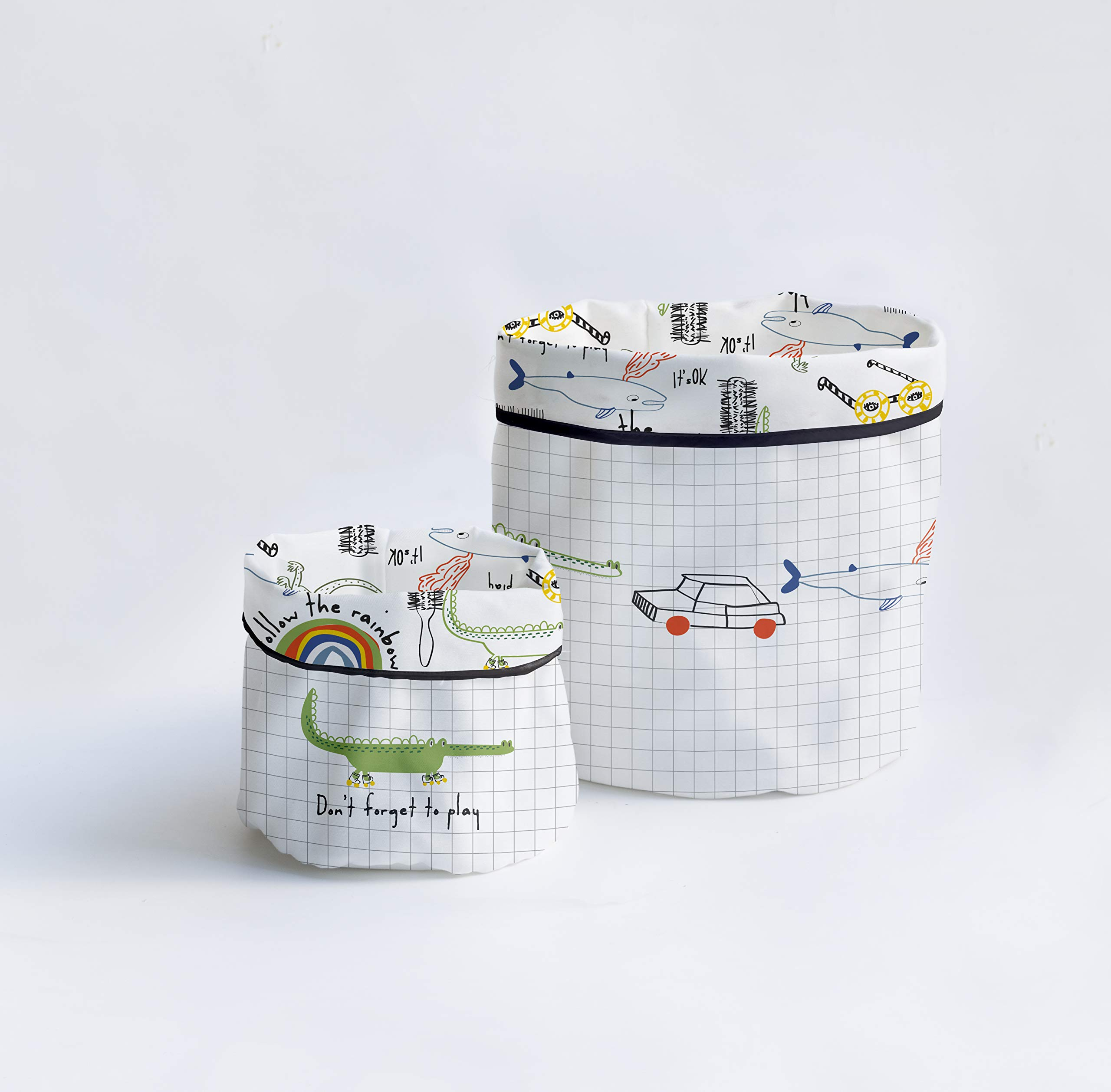 Dear Bestiario Notebook Set Baskets, Teflon Textile, Printed, 19.27 cm, 2