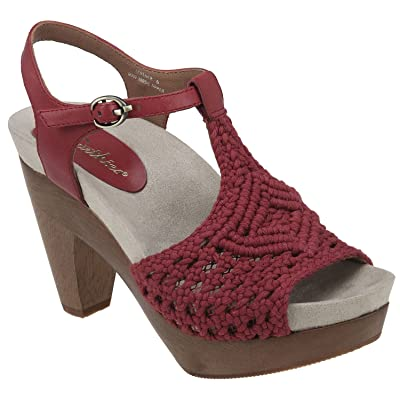 Earthies Women's Amalfi T-Strap Sandal | Platforms & Wedges