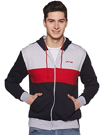 40b7eb8a9 AWG - All Weather Gear Men's Sweat Shirt (AWG-SSLZ83-S_Multi Colour_Small)
