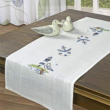 Stickpackung LEUCHTTURM / Komplettes vorgezeichnetes Tischläufer Set ...