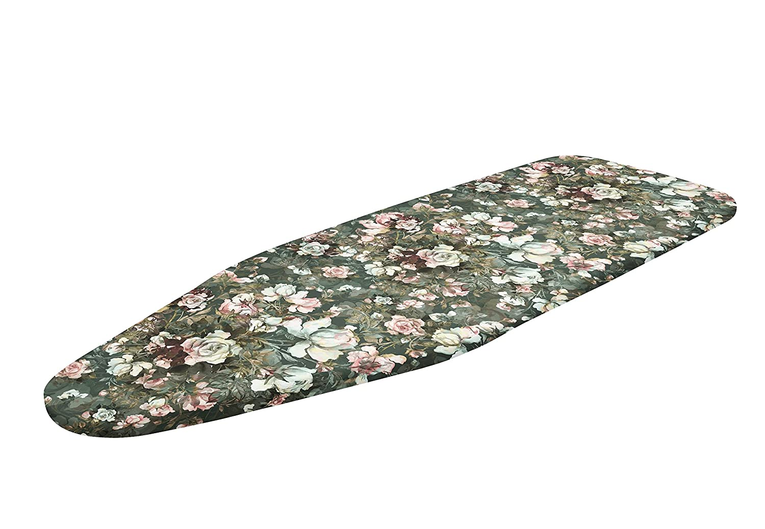 Encasa Homes Ironing Board Cover Luxury Line with Extra Thick Pad Fits Boards of Length 109-114cms /& Width 30-35cms Roses