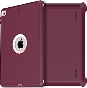 AICase iPad 8th Gen/iPad 7th Gen Case,iPad 10.2 2019/2020 Case,Heavy Duty Shockproof Triple Layer Defense for New Apple iPad 7th/8th Generation 10.2-inch 2019/2020 Release (Purple)