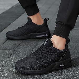 ZHELIYA Zapatillas de Running para Hombre Zapatillas de Deporte con amortiguación Air Comfort Outdoor Zapatillas de Gimnasia Transpirables Negro 39EU(Black-4): Amazon.es: Zapatos y complementos