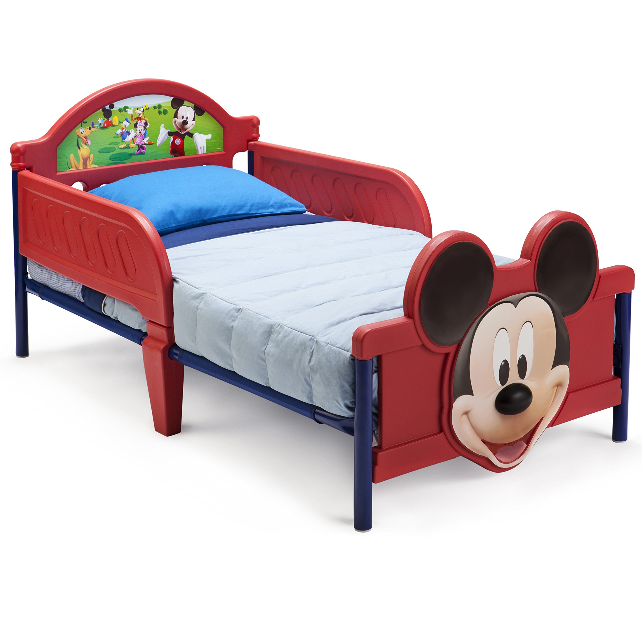 Children Toddler Wood Bed,Child Bedroom Furniture Boy Girl Princess Disney Safet