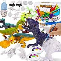 Magicfun Kit Pintura para Niños, Figuras Dinosaurios para Pintar, 36 Piezas Juguetes de Dinosaurios Creativo No Tóxicos…