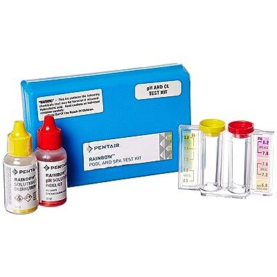 Pentair R151076 752 2 n 1 pH and Chlorine Test Kit : Swimming Pool Liquid Test Kits : Garden & Outdoor