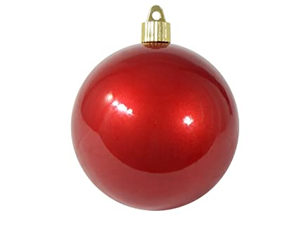 Christmas By Krebs CBK80630 Shatterproof Christmas Ball Ornament, 4-inch,  Candy Red - Amazon.com: Christmas By Krebs CBK80630 Shatterproof Christmas Ball