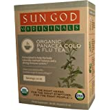 Sun God Medicinals Organic Loose Leaf Herbal Tea for Cold & Flu Support-Panacea-2 oz (20-24 servings) Caffeine Free…