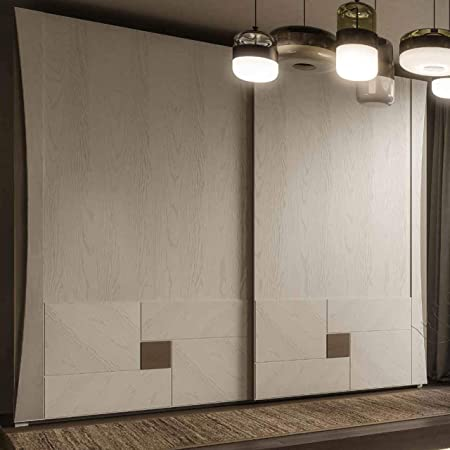 Dafnedesign.Com - Armario de 2 puertas correderas de madera de nogal (cm. L 285 x 66 cm. 250) (TVG): Amazon.es: Hogar