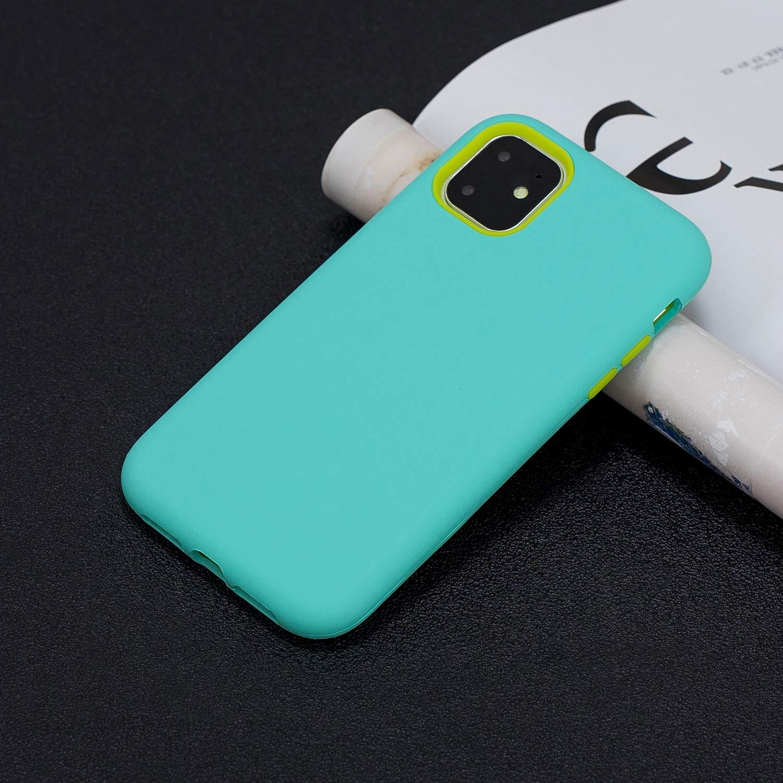 Yobby Cover per iPhone 11 PRO,Ultraslim 3 in 1 Ibrida Antiurto Robusta Custodia con Doppia Protezione Plastica Dura Morbida Silicone Bumper Protezione Completa AntiGraffio Caso-Grigio