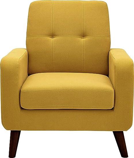 Amazon.com: Puente acentuado, moderno brazo silla tapizado ...