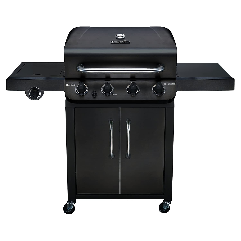 Amazon.com : Char-Broil Performance 475 4-Burner Cabinet Liquid Propane Gas  Grill- Black : Garden & Outdoor