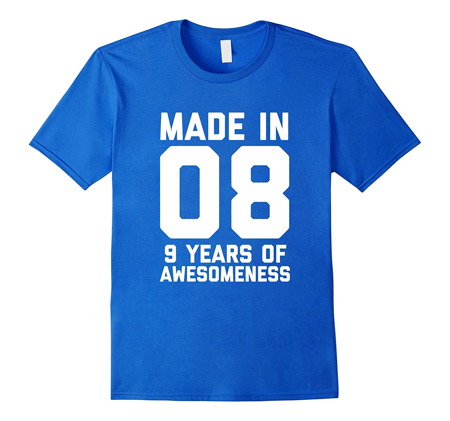 9th Birthday Shirt Gift Age 9 Year Old Boy Girl Tshirt Tee FL