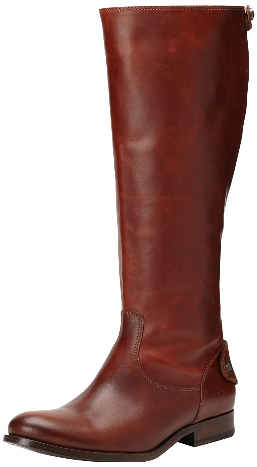 FRYE Women's Melissa Button Back-Zip Boot B005917CYC 7 B(M) US|Cognac Smooth Vintage Leather-76431