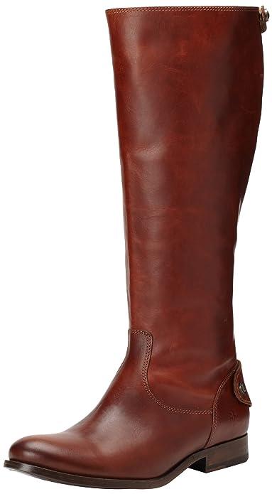 Amazon.com | FRYE Women\'s Melissa Button Back-Zip Boot | Knee-High