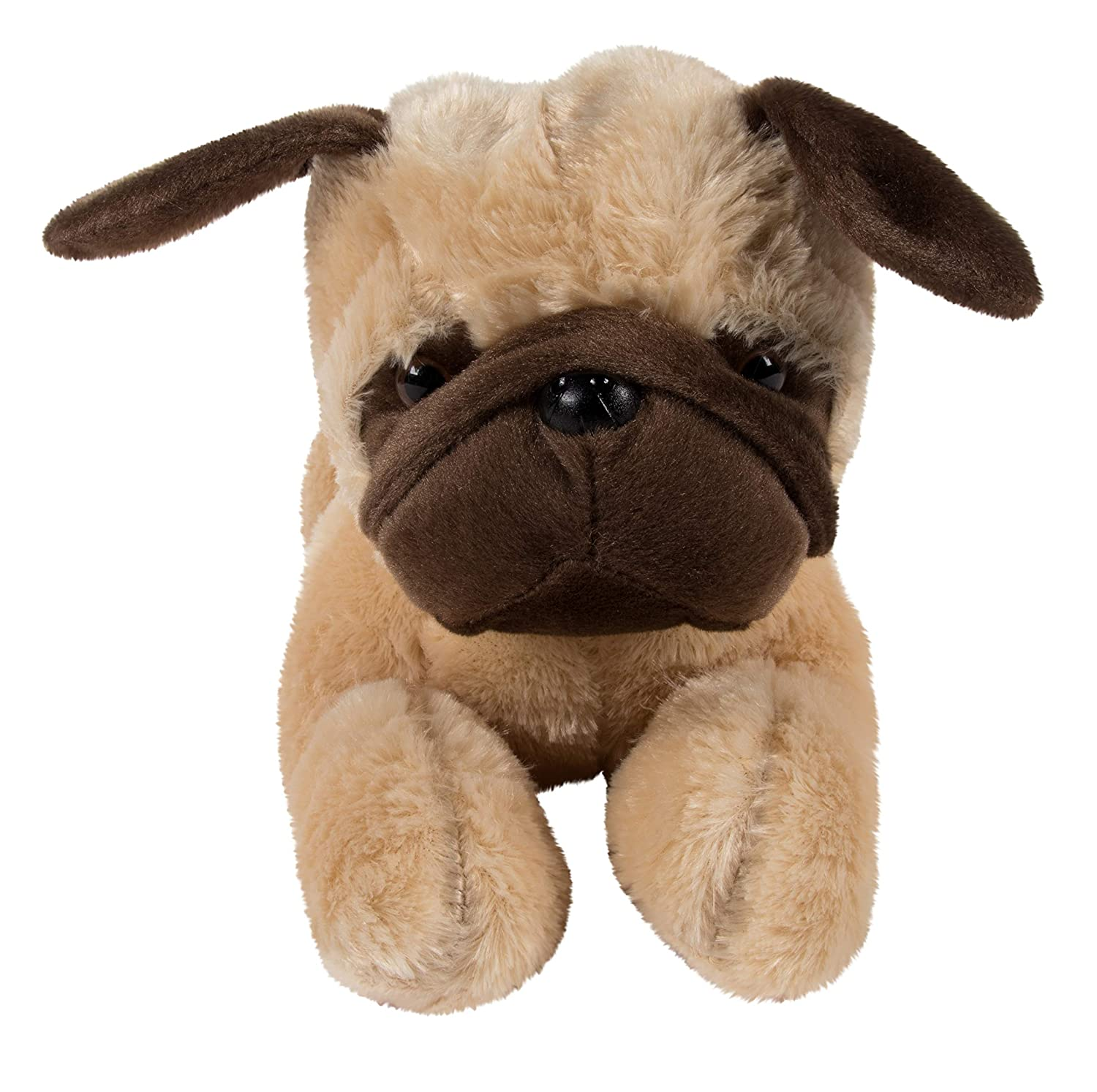 Party Prizes for Boys and Girls 15 x 6 x 6 Inches Otis The Pug Plush Toy Light Tan Soft Pillow Cushion Blue Panda Stuffed Animal Dog for Kids Birthday Gift