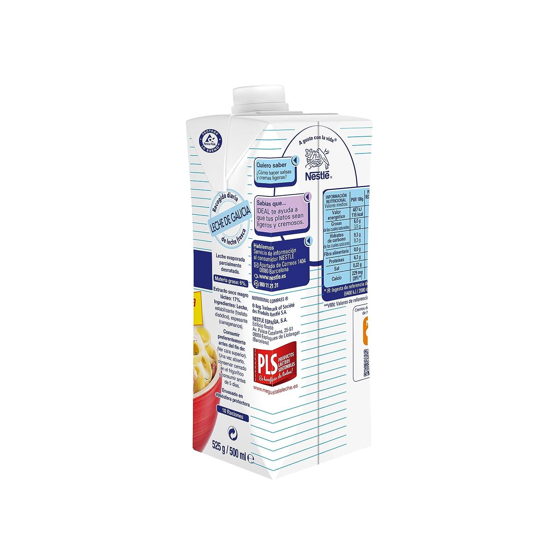 Nestlé - Ideal - Leche Evaporada - 500 ml (525 g): Amazon.es: Alimentación y bebidas