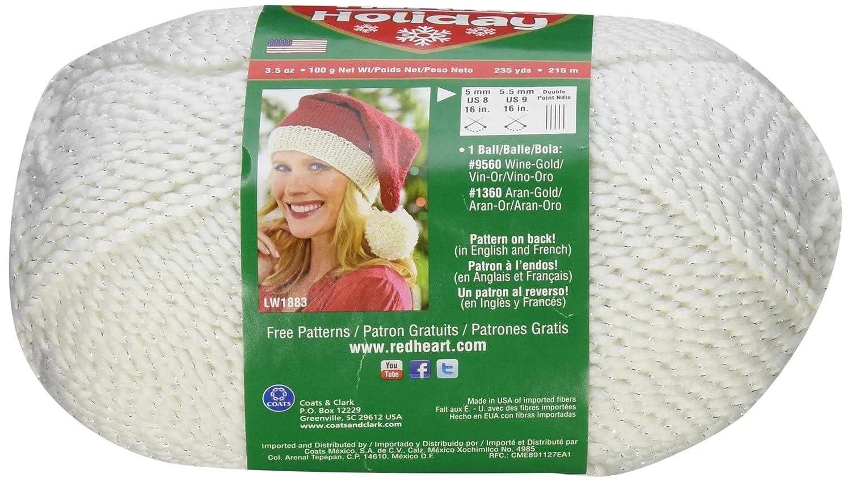 Red Heart Holiday Yarn-White W/Silver Metallic: Amazon.co.uk ...