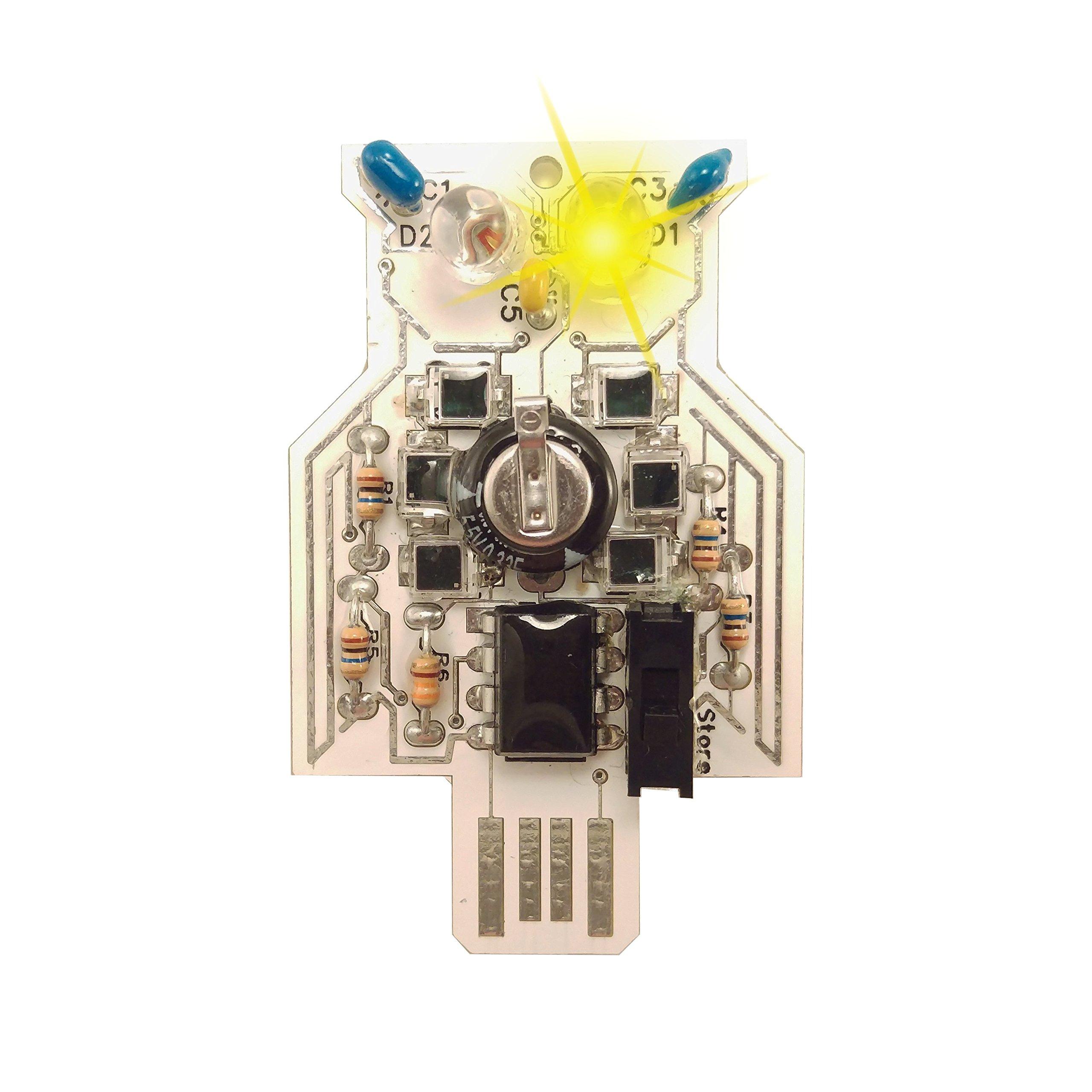 Lumen Electronic Jewelry Intermediate Soldering kit, Solar Powered LED OWL