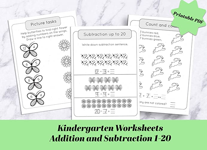 Our Kindergarten Math Worksheets Is A Great Way For Your 5 7 Year Old Child To Learn Addition And Subtraction Up To 20 We Ve Put Together Activities That Are Both Fun And Educational Practice Addition And Subtraction Operations With These Hands On - 50+ Kindergarten Math Counting Worksheets For Kindergarten 1 20 Images