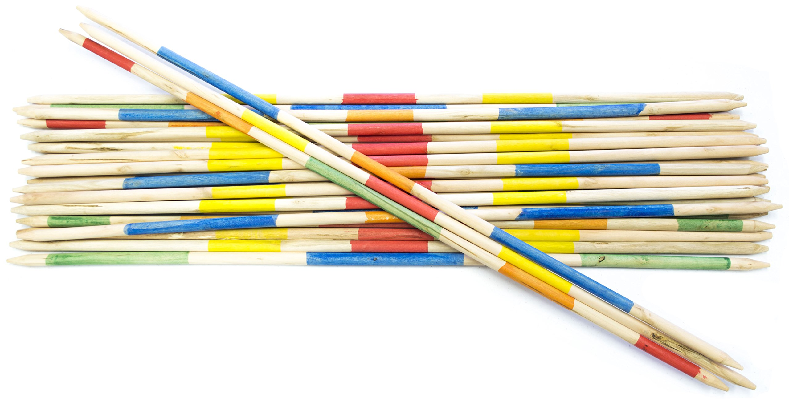 Striker Games - Mikado Giant Pick-Up Sticks - Giant Outdoor Games/Outdoor Toys - 35 Inch Wooden Sticks - Factory Defect