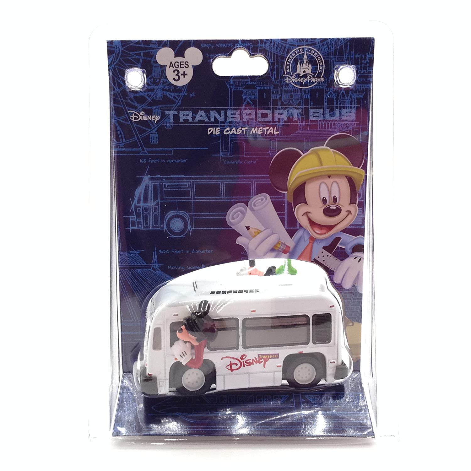 Disney Parks Transport Bus Die Cast Metal Play Vehicle