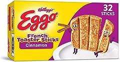 Eggo Frozen French Toast Sticks, Frozen Breakfast, All Day Kids Snacks, Cinnamon, 12.7oz Box (32 Sticks)