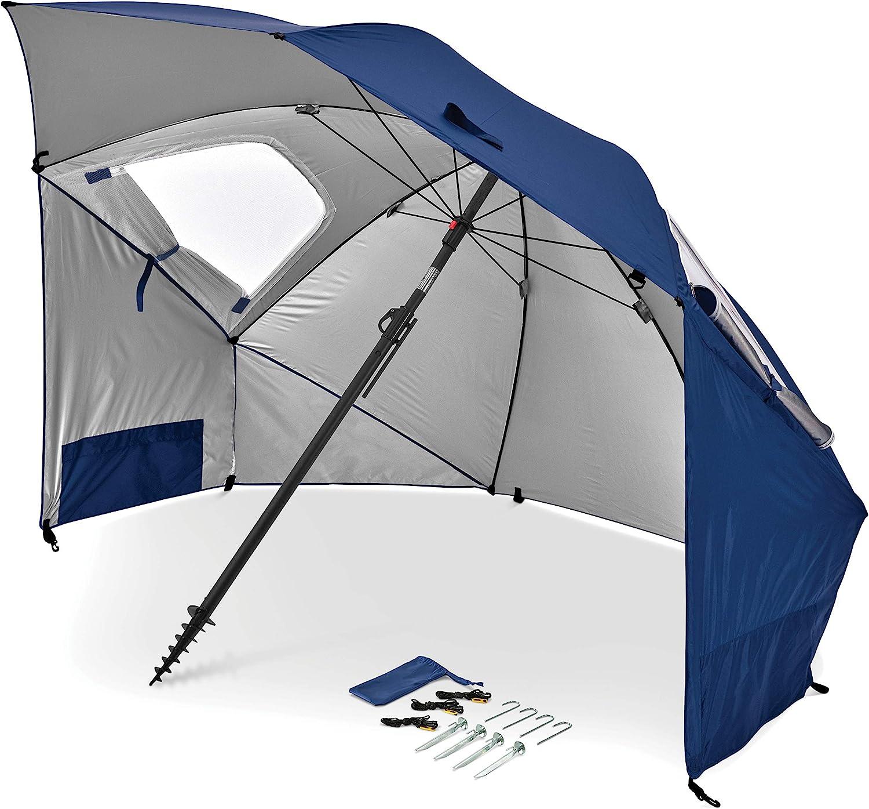 Angled Shade Canopy Umbrella for Optimum Sight Lines Sport-Brella Ultra SPF 50