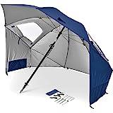 Sport-Brella Premiere UPF 50+ Umbrella Shelter for Sun and Rain Protection (8-Foot)