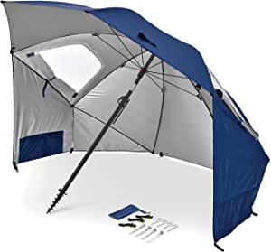 Sport-Brella Unisex's Sport Bella Premiere Portable All-Weather & Sun Umbrella, 8-Foot Canopy, Blue, 1 Size