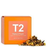 T2 Tea Packs a Peach Loose Leaf Fruit Tea in Box, 100 g