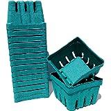 12 One Pint Berry Boxes - Fits Standard Berry Carrier Flats - 1BBS Green Molded Fiber Berigard (12, Pint)