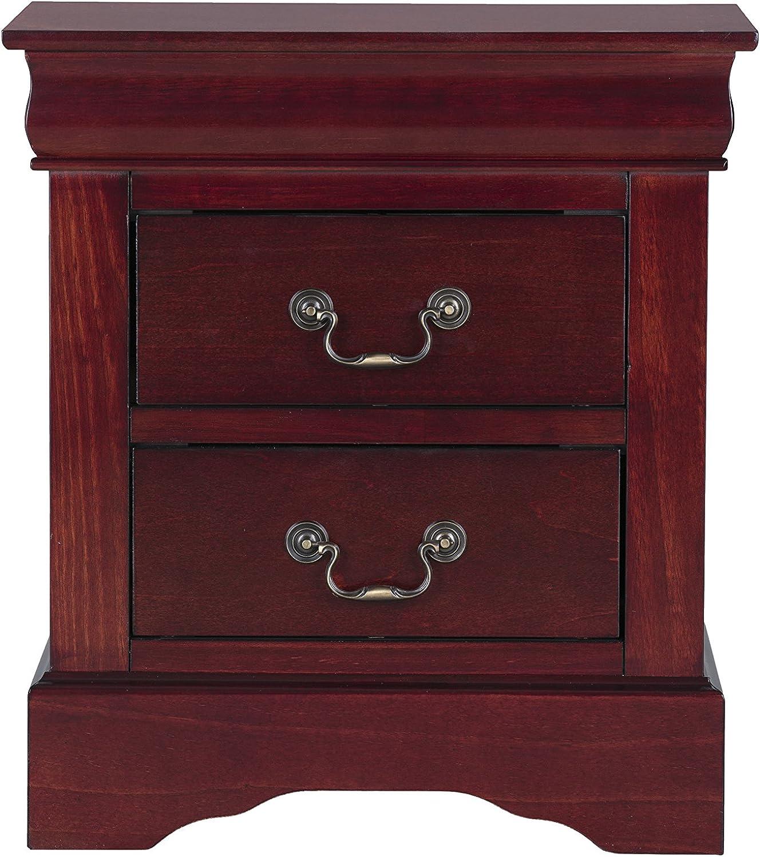Standard Furniture Lewiston Nightstand, Cherry Brown