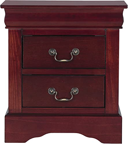 Standard Furniture Lewiston Nightstand, Cherry Brown