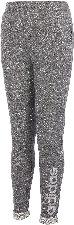 adidas Girls' Everyday I Sparkle Jogger Pants(Grey Heather, S)