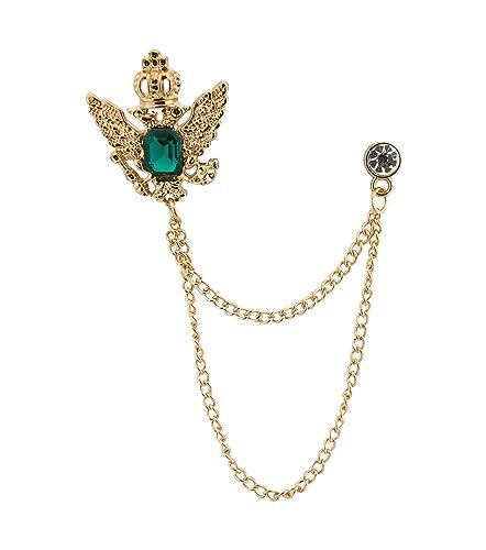 Amazon.com: Knighthood para hombre corona dorada piedra con ...