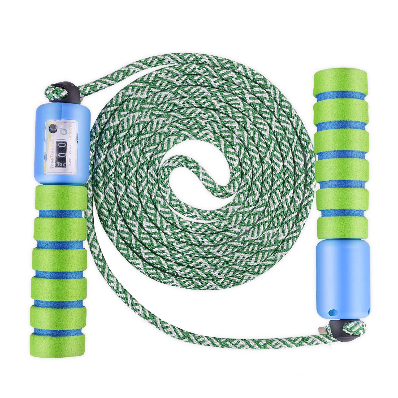 KATELUO Saltar Cuerda Ajustable Algodón Cable Velocidad Cuerda con ...
