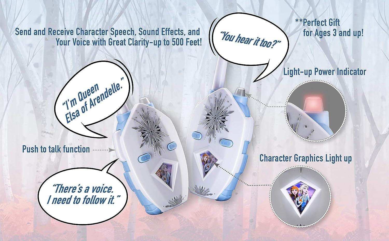 Disney Frozen II 2 Anna /& Elsa Character Walkie Talkies lights and sounds