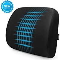 Tdbest Memory Foam Lumbar Support Back Cushion with 3D Mesh Cover Balanced Firmness Designed (several colors)