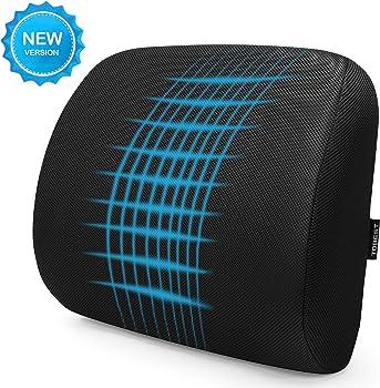 Tdbest Memory Foam Lumbar Support Back Cushion